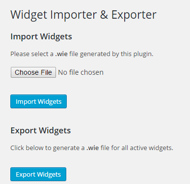 Import Widget Settings2