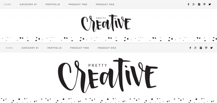 larger header in Pretty Creative Theme