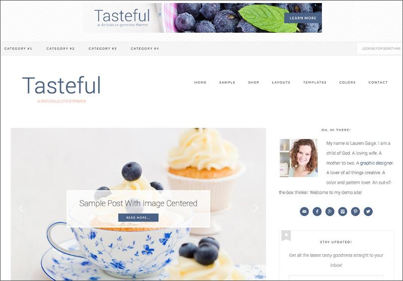 Best Feminine WordPress Themes For Bloggers & Female Entrepreneurs Tasteful Premium WordPress theme by Restored 316