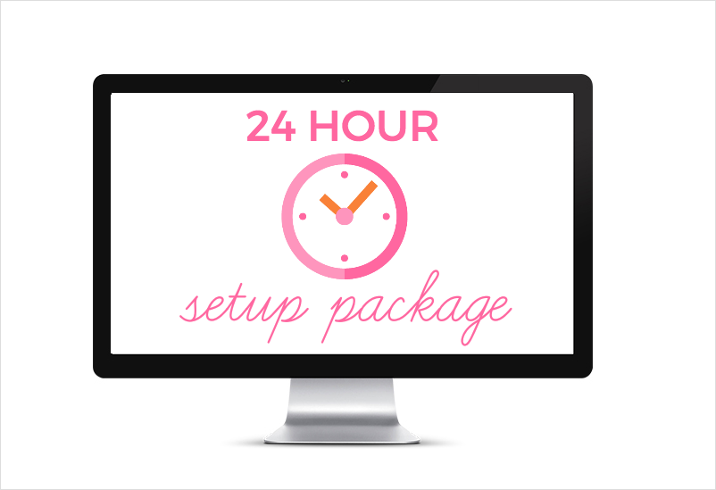 Feminine WordPress themes by One Happy Studio | 24 Hour WordPress Theme Website setup