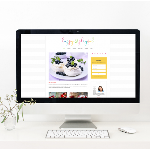 Happy & Playful - a colorful, fun feminine eCommerce WordPress theme