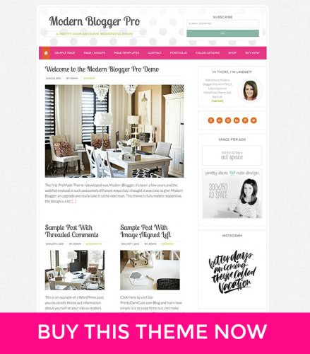 Add a Landing Page to the Modern Blogger Pro Theme